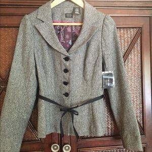 Brand new Nicole Miller tweed two-piece suit
